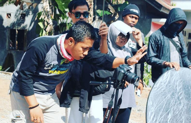 Dokumentasi proses pembuatan film pendek oleh BBG Manurung Production.